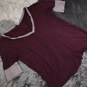 Free People XS Red Distressed Shirt